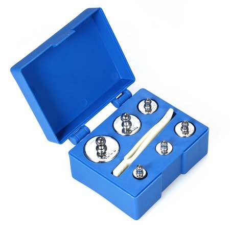 Pro 5th Scale - 6pcs Weight 5g 10g 2x20g 50g 100g Grams Precision Calibration Weights Kit Set Total 200g with Tweezer for Balance Scale