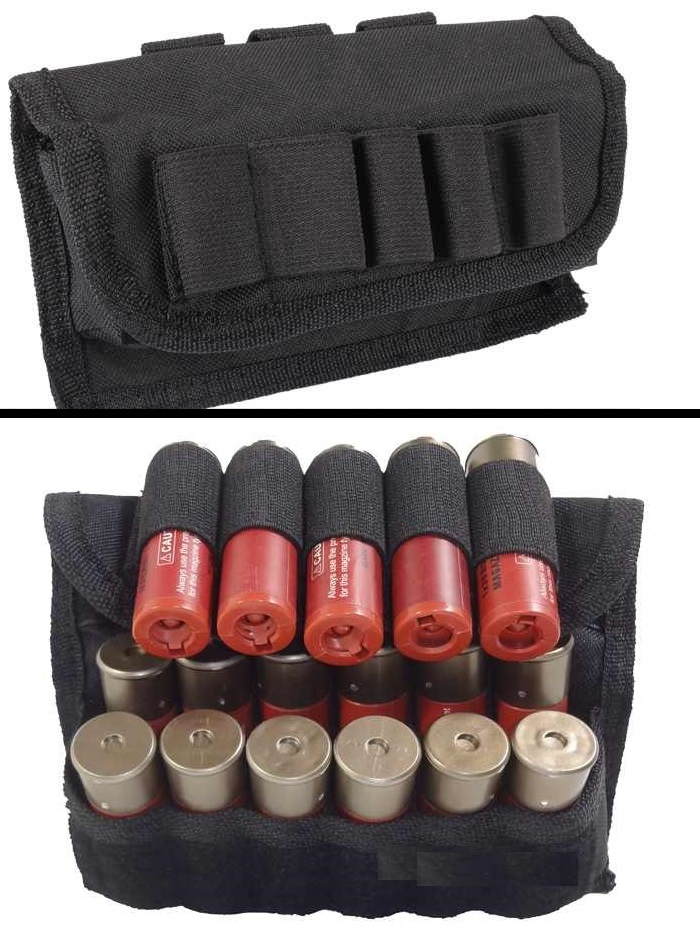Ultimate Arms Gear Tactical Black 17 Shot Shell Ammunition Ammo Reload Carrier Pouch MOLLE, PALS & Belt Loop Fits 12  ... by