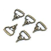 Unique Bargains 5PCS 3mm Male Thread Handle Pull Knob Bronze Tone for Makeup Dresser Drawer