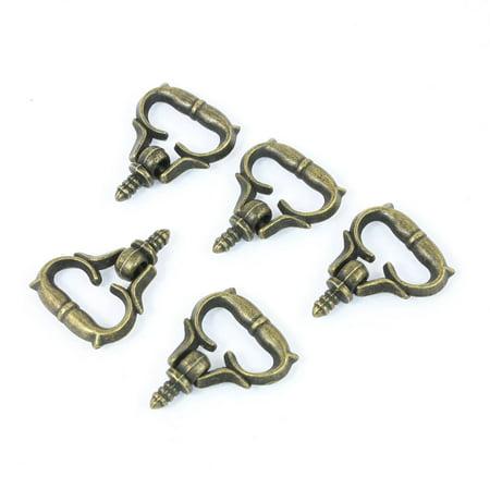 Unique Bargains 5PCS 3mm Male Thread Handle Pull Knob Bronze Tone for Makeup Dresser (Bronze Triple Handle)