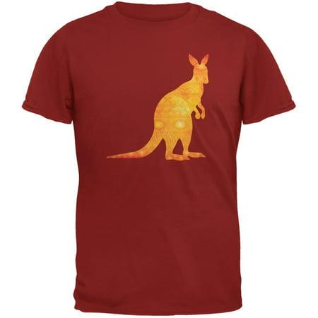 Australian Spirit Animal Kangaroo Cardinal Red Adult T-Shirt