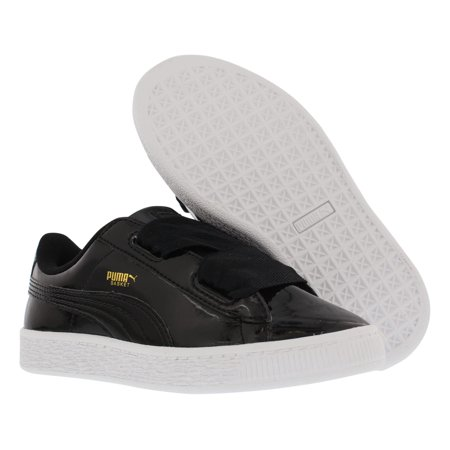 new product 17f07 1cb13 Puma Basket Heart Patent Casual Girls Shoes Size