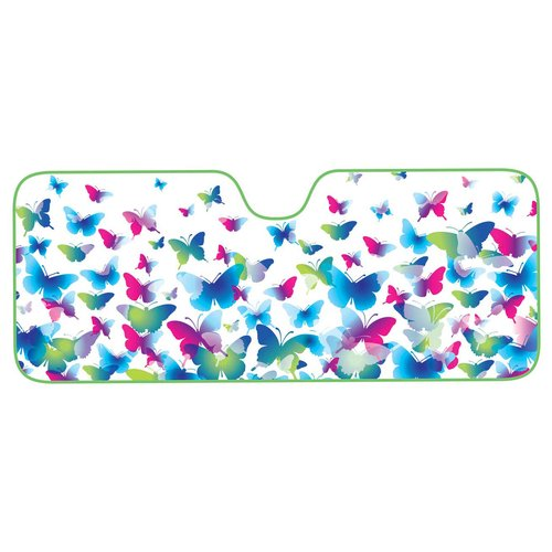 Auto Expression Butterfly Frenzy Accordion Shade Std