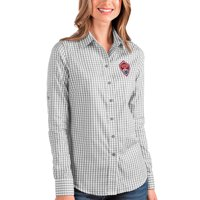 Colorado Rapids Antigua Women's Structure Button-Up Long Sleeve Shirt - Silver/White