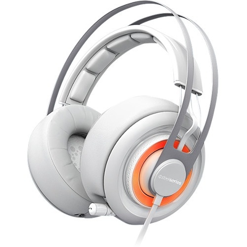 SteelSeries Siberia Elite Headset - Surround - Arctic White - Mini-phone - Wired - 32 Ohm - 16 Hz - 28 kHz - Over-the-head - Binaural - Circumaural - 3.94 ft Cable - Uni-directional, Noise Cancelling