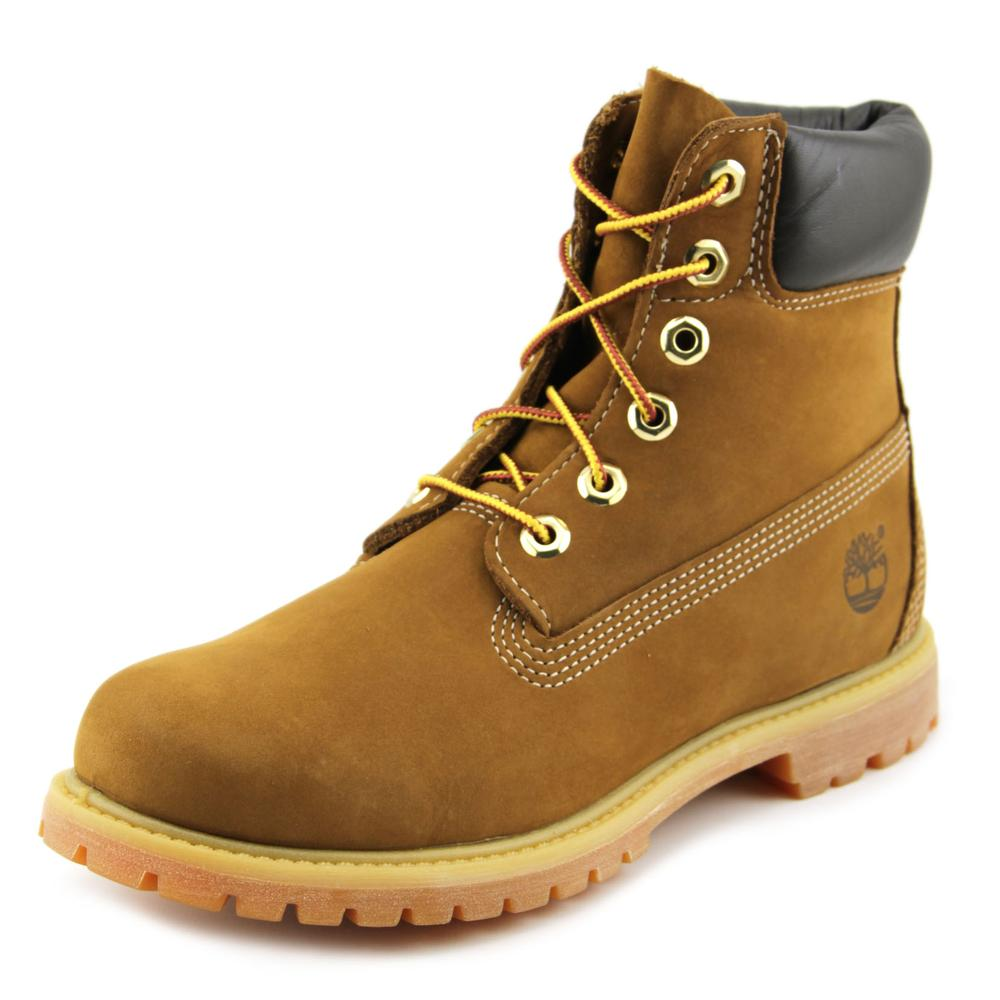 Timberland 6 In Prem Women Round Toe Suede Brown Work Boot by Timberland
