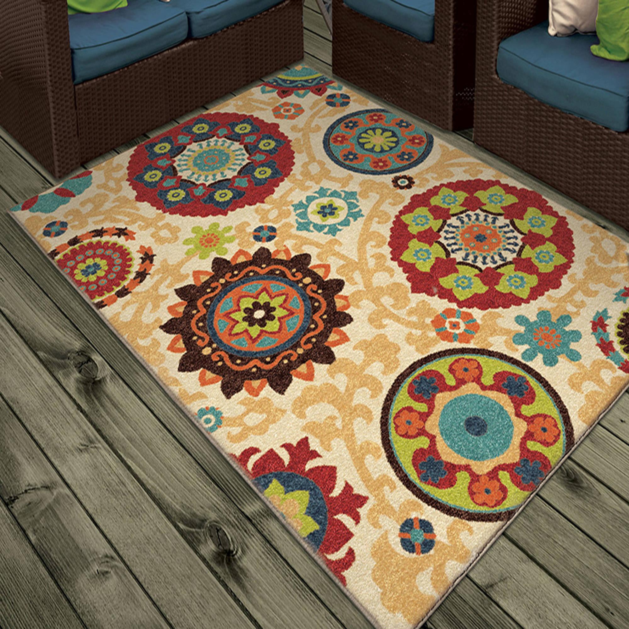 Orian Rugs Indoor/Outdoor Medallions Fahri Multi Area Rug