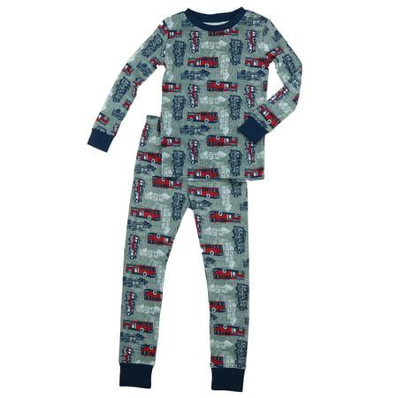 Kirkland Signature - Kirkland Signature Boys 2-Piece Organic Cotton Pajama  Set (Firetruck b14fc490a