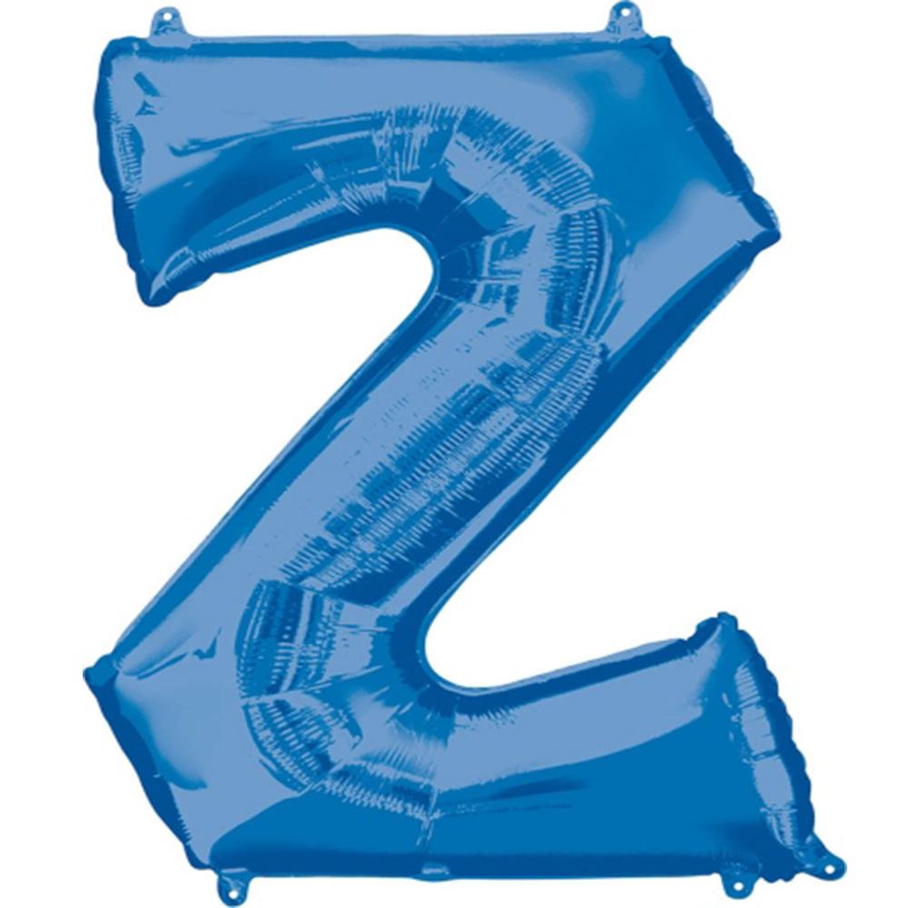 """Giant Blue Letter Z Foil Balloon 33"""""""