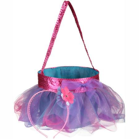 Easter Walmart Teal Tutu Basket with Headband 2 pc Pack - Easter Headbands