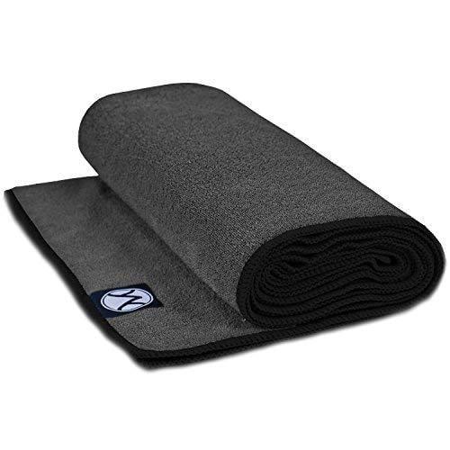 Microfiber Non Slip Hot Yoga Mat Towel Skidless Grip Youphoria Yoga Towel 24 x 72 Ultra Soft and Sweat Absorbent