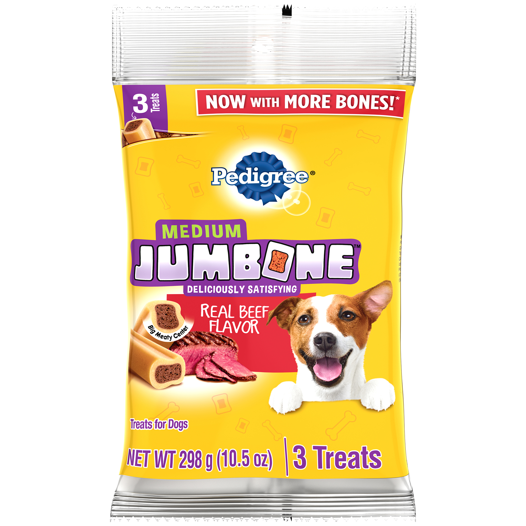 Pedigree Jumbone Real Beef Flavor Medium Dog Treats - 10.5 Ounces (3 Treats)