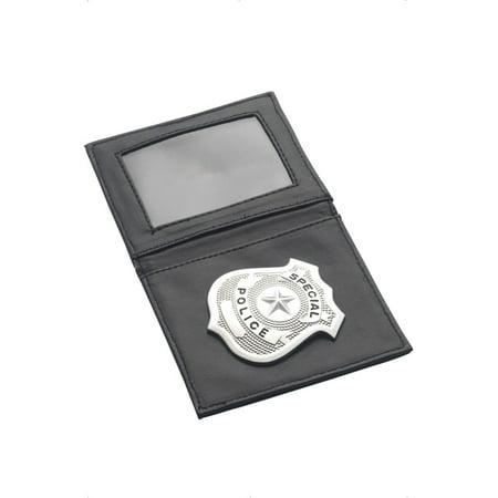 Black & Silver Police Badge In Wallet Costume Set
