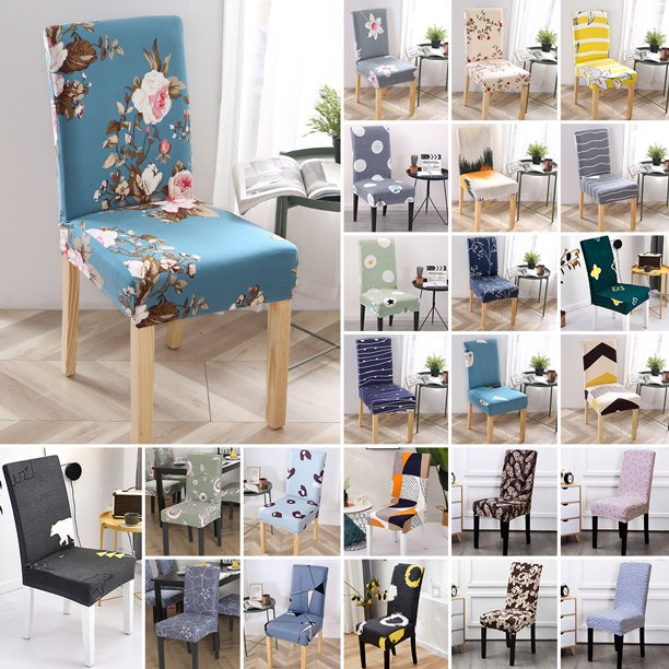 Dining Room Stool Seat Chair Cover, Stretch Seat Covers For Dining Room Chairs
