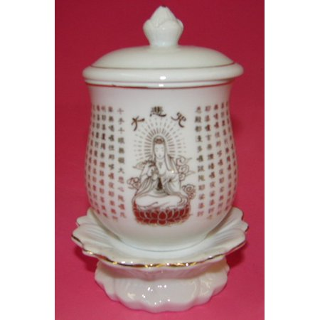 Ivory Kwan Yin Vases-4.5 in