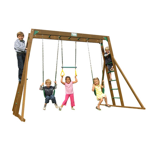 Creative Playthings Classic Top Ladder Swing Set Walmart Com