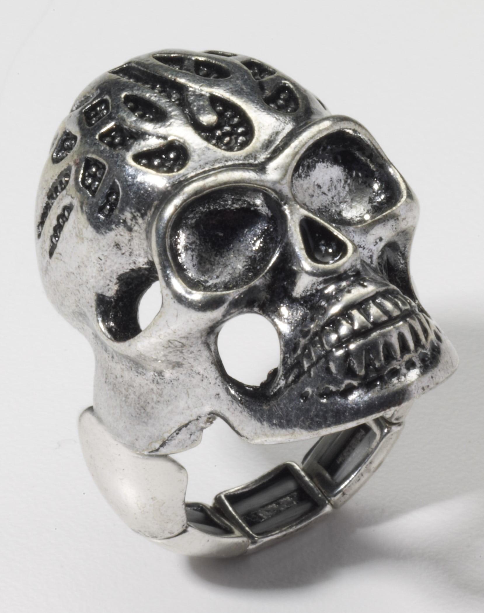 Biker Skull Ring Costume Jewelry Adult