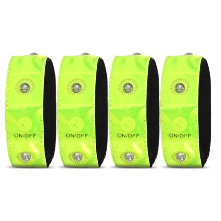 Outdoor Sports LED Night Safety Reflective Wrist Band Bracelet for Cycling Walking Running