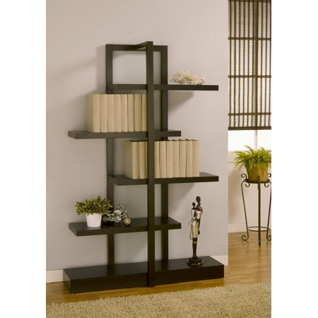 Aredelia modern open shelf display case for Furniture of america nara contemporary 6 shelf tiered open bookcase