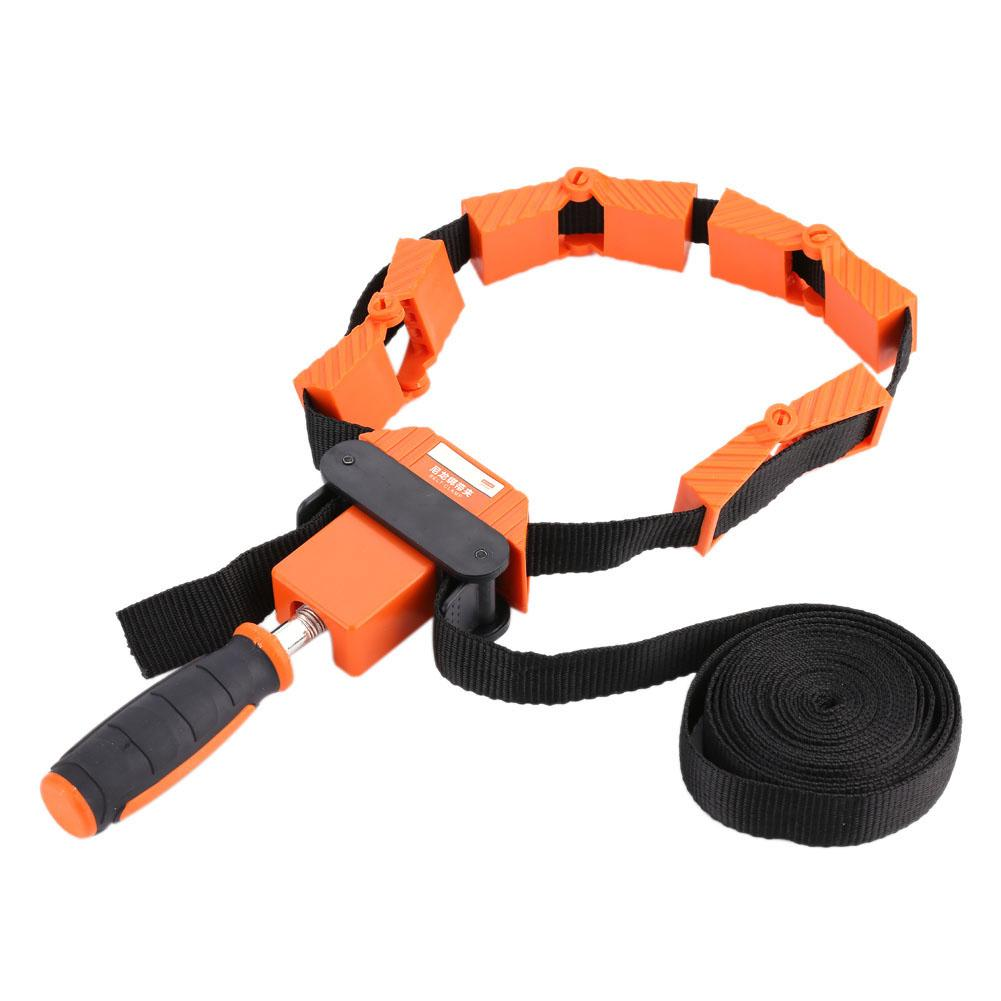Multi-Function Belt Clamp Adjustable Corner 4 Jaws Picture Frame Holder Woodworking Tool for Picture Strap Clamp Band Clamp