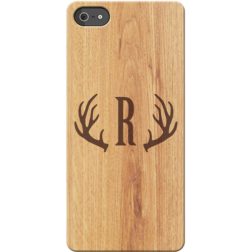 Personalized Antler Initial iPhone 5 Case