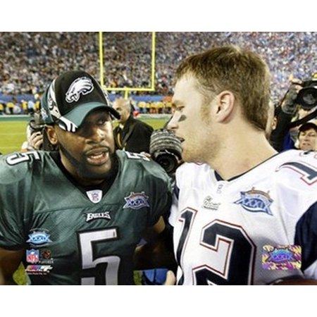 Tom Brady & Donovan McNabb - Super Bowl XXXIX - talk after game Sports Photo