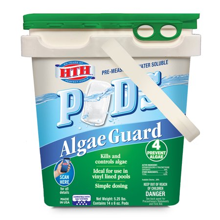 HTH Pre-measured Water Soluble Pods Algae Guard, 5.25