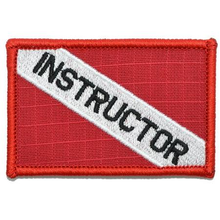 - Instructor - Diver Down Scuba Flag - 2x3 Patch