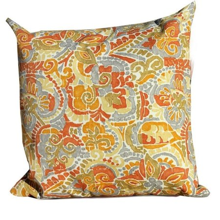 Bowery Hill Outdoor Throw Pillows Square in Marigold (Set of 2) - image 1 de 2