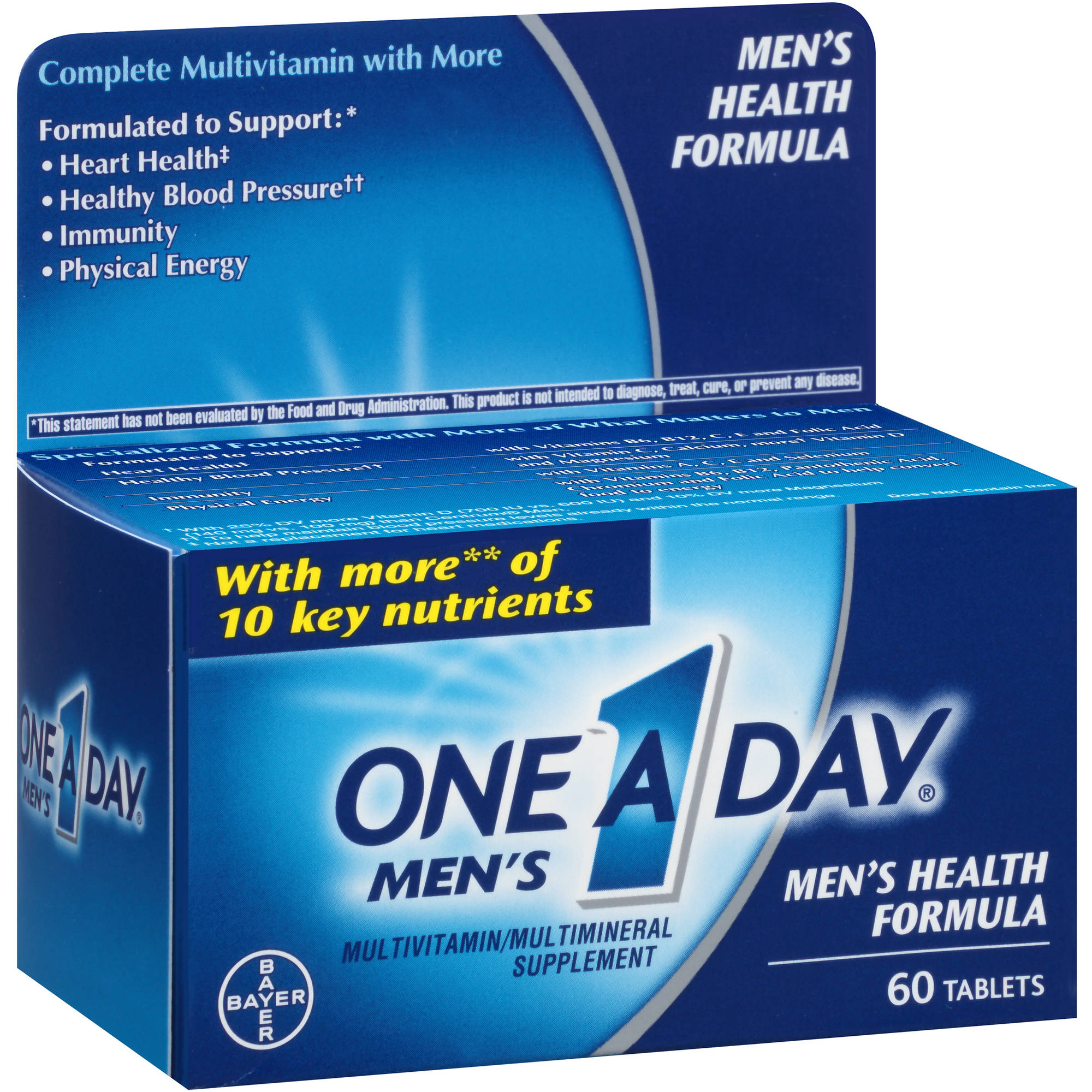 One A Day Men's Health Formula Multivitamin/Multimineral Supplement Tablets, 60 count