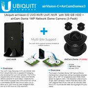 Ubiquiti airVision-C UVC-NVR UniFi NVR + AirCam Dome 3-pack IP Camera HDTV PoE