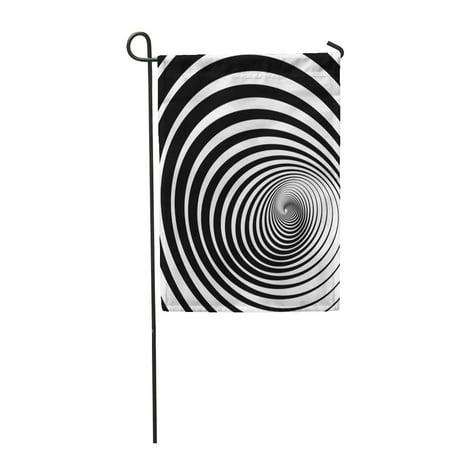 LADDKE Twist of Fate Hypnotic Spiral Twirl Circles Tunnel Garden Flag Decorative Flag House Banner 28x40 inch