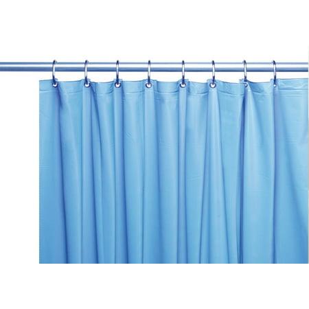 Venice Elegant Home Heavy Duty Vinyl Shower Curtain Liner With 12 Metal Grommets Sky Blue