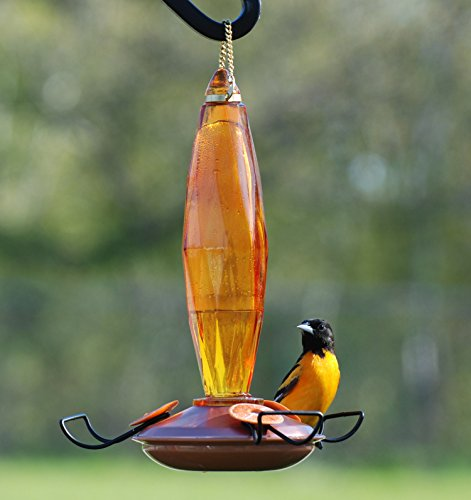 Woodlinks WLO8 Copper Colored Cut Glass Oriole Feeder