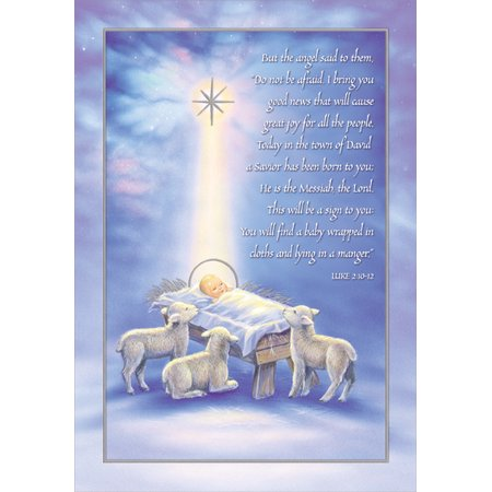Designer Greetings A Savior Has Been Born Box of 18 Religious Christmas Cards ()