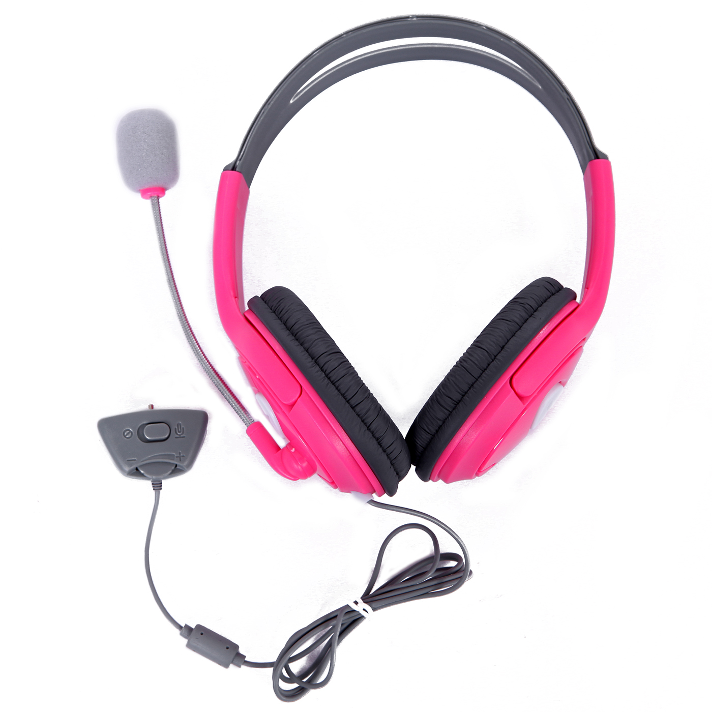 HDE Xbox 360 Gaming Chat Headset with Microphone for Xbox Live - Pink