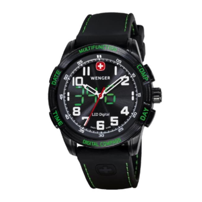 Wenger Swiss Military 70433 Mens Nomad Compass Green LED ...