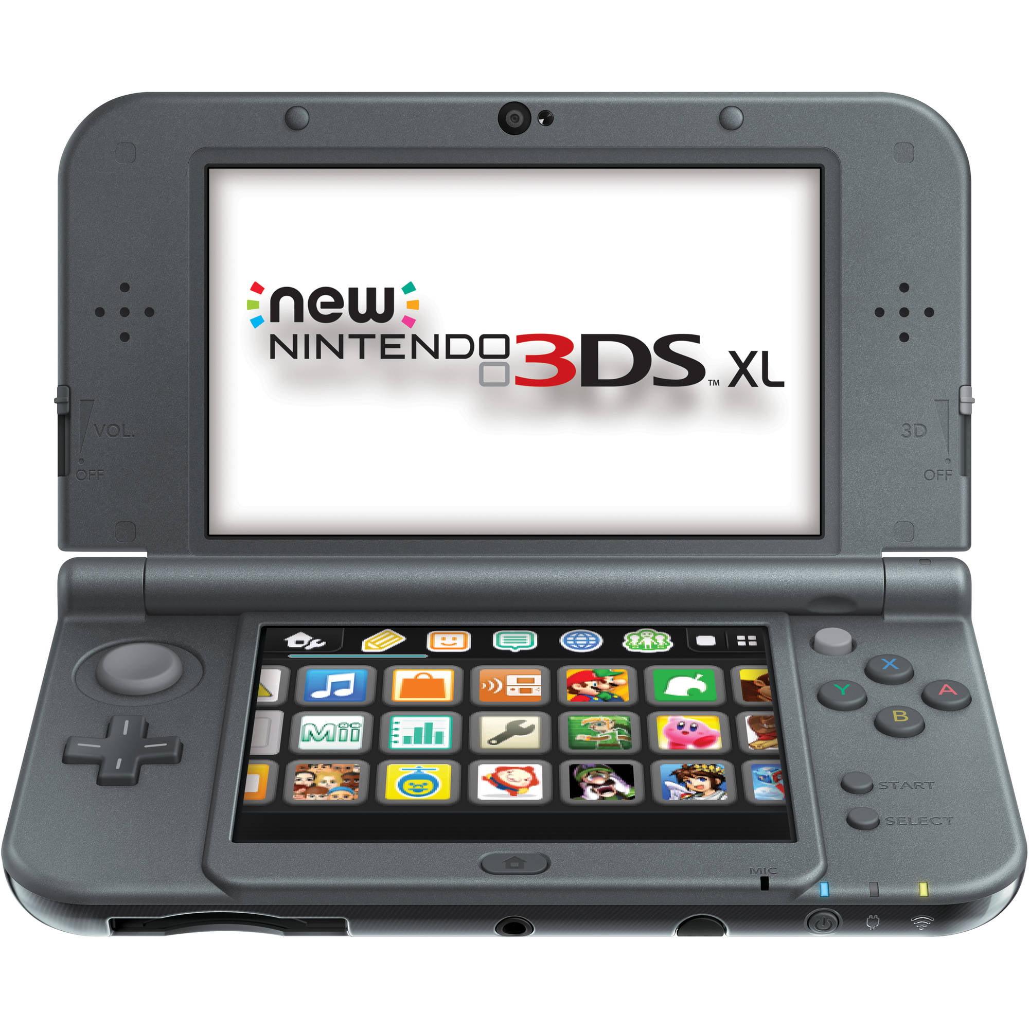 Refurbished New Nintendo 3DS XL Handheld Gaming System, Black
