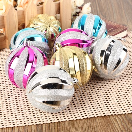 12-Pack 8cm Christmas Tree Hanging Balls Baubles Christmas Tree Ornaments Decorations for Home (Hanging Decorative Balls)
