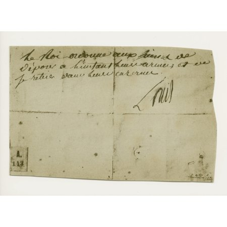 - Last Order Signed By Louis Xvi When He Had Taken Refuge With The Legislative Assembly 10 August 1792 From A 19Th Century Copy Of The Original Canvas Art - Ken Welsh  Design Pics (32 x 24)