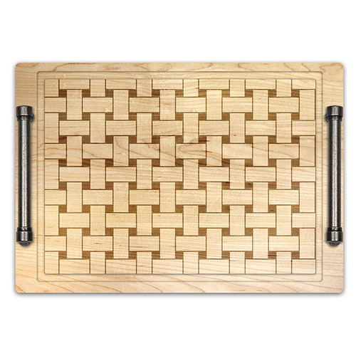 Martins Homewares Farmers Market Basket Weave Cheese Tray