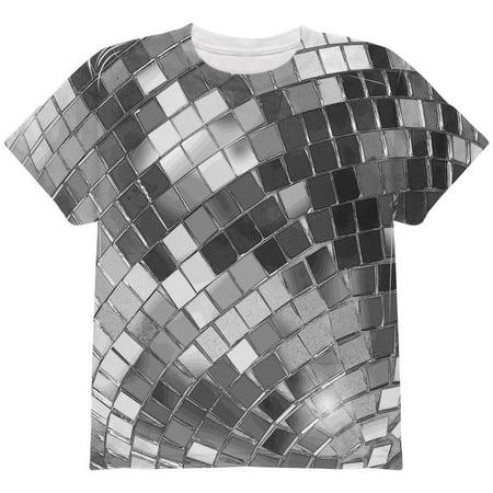 Girls Disco Clothes (Non-Metallic Disco Ball All Over Youth T)