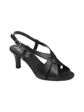 b06f94633c2 Product Image Women s A2 by Aerosoles Passcode Heeled Slingback Sandal.  Product Variants Selector. Black Polyurethane