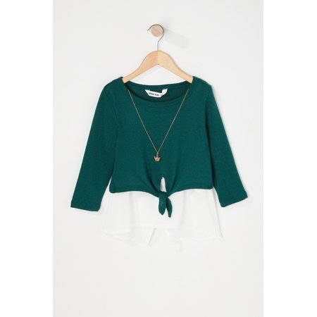 Urban Kids Youth Girl's Girls Layered Long Sleeve With Necklace - image 7 de 8