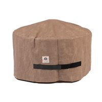 """Duck Covers Elite Round Fire Pit Cover - Water Resistant Outdoor Furniture Cover, 36""""DIA x 24""""H, Cappuccino"""