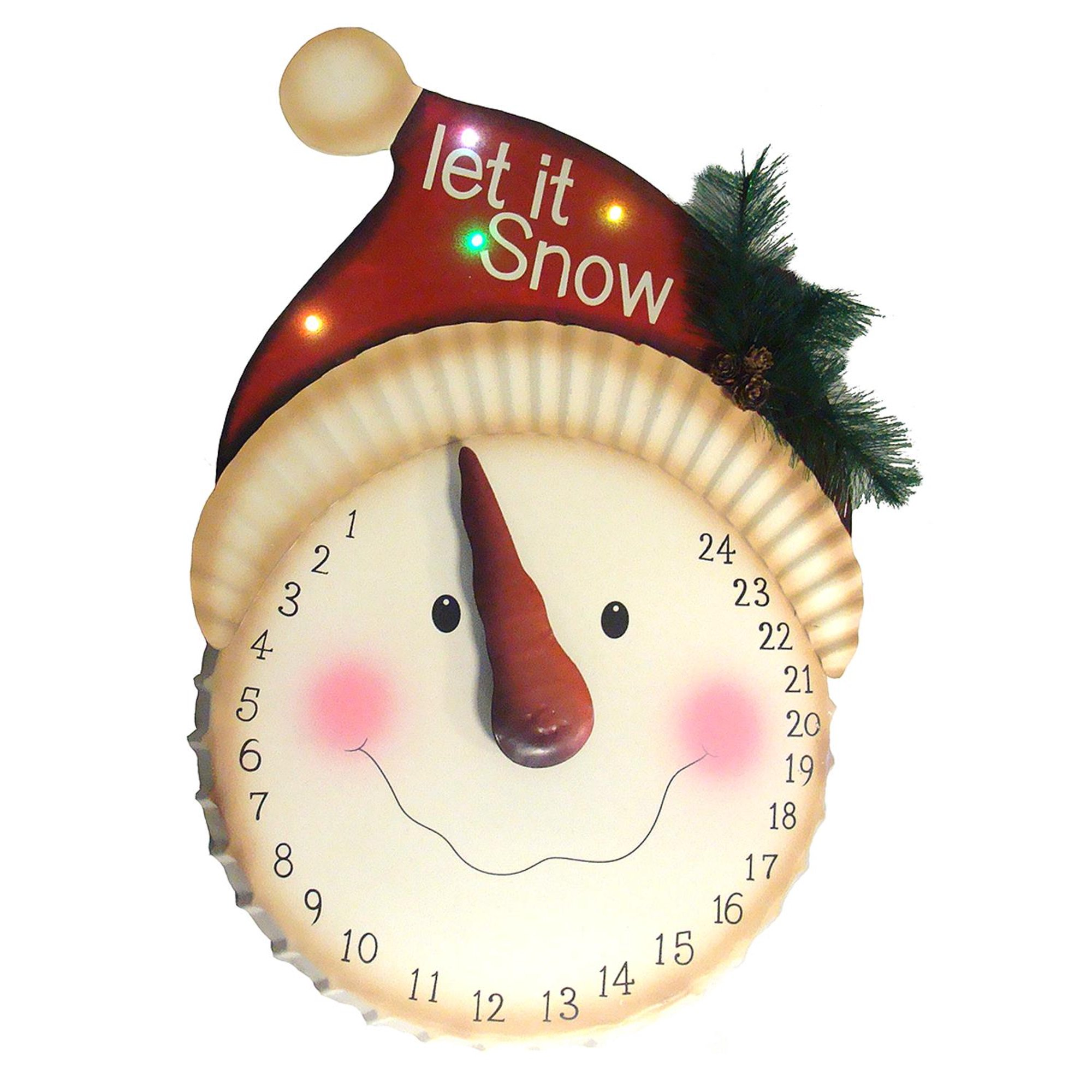 How Many Days Left Until Christmas.21 Led Lighted Let It Snow Snowman Face Christmas Countdown Advent Calendar