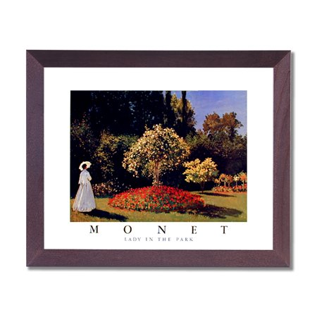 Claude Monet Lady Park French Flowers Landscape Wall Picture Cherry Framed Art Print