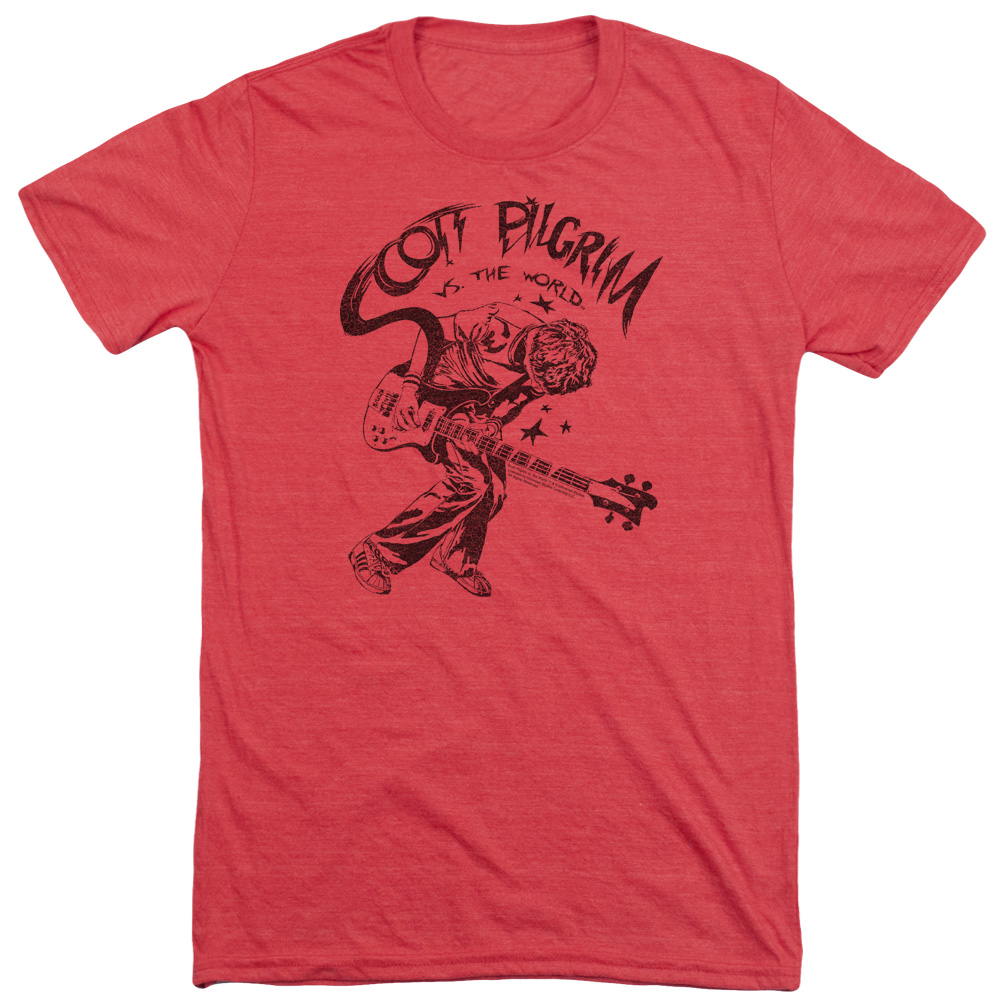 Scott Pilgrim Rockin Mens Tri-Blend Short Sleeve Shirt