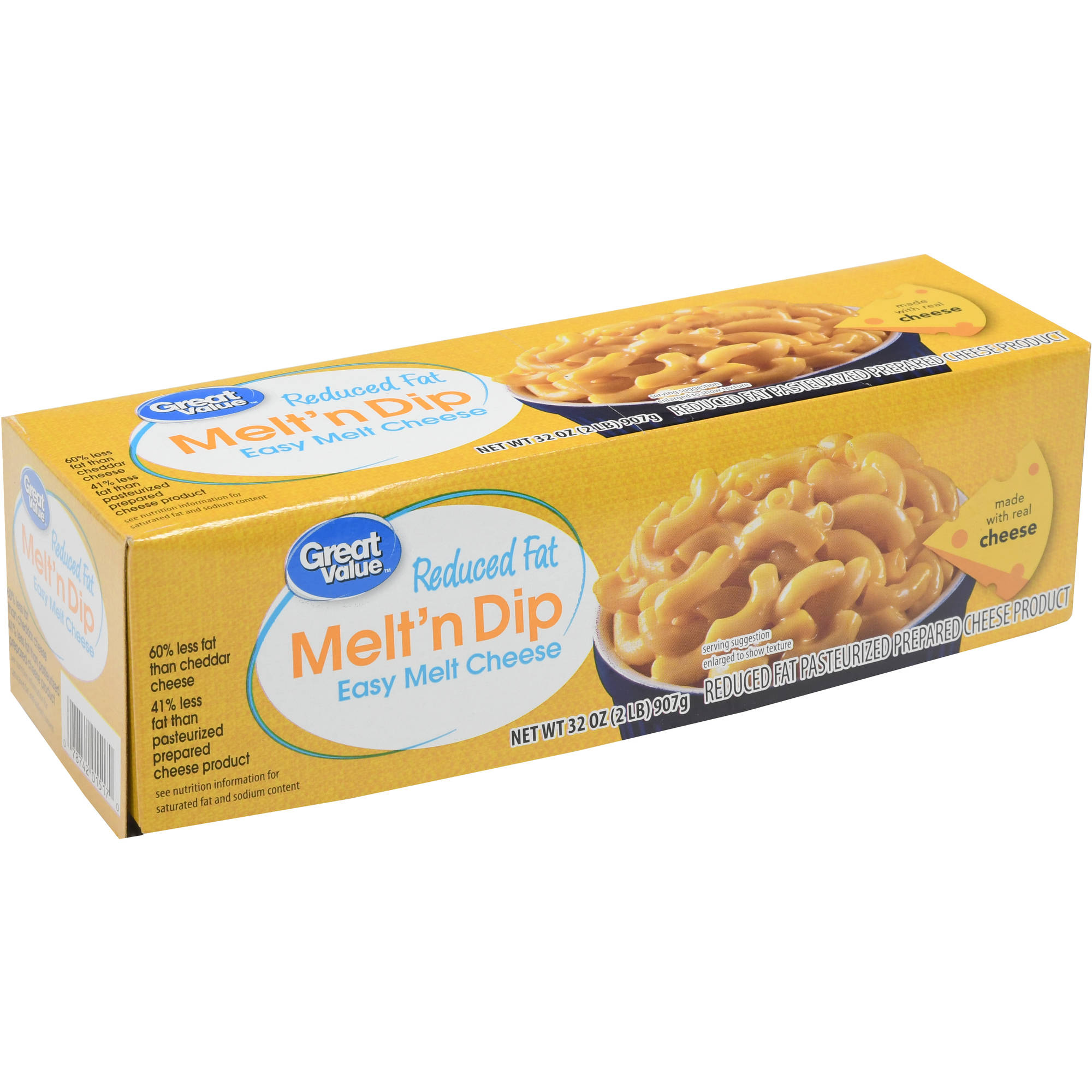 Great Value Easy Melt Reduced Fat Cheese Product, 32 oz by Generic