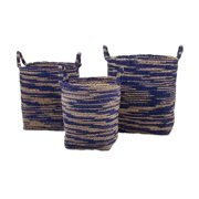 IMAX Cyprus Seagrass Baskets - Set of 3 (11655-3)